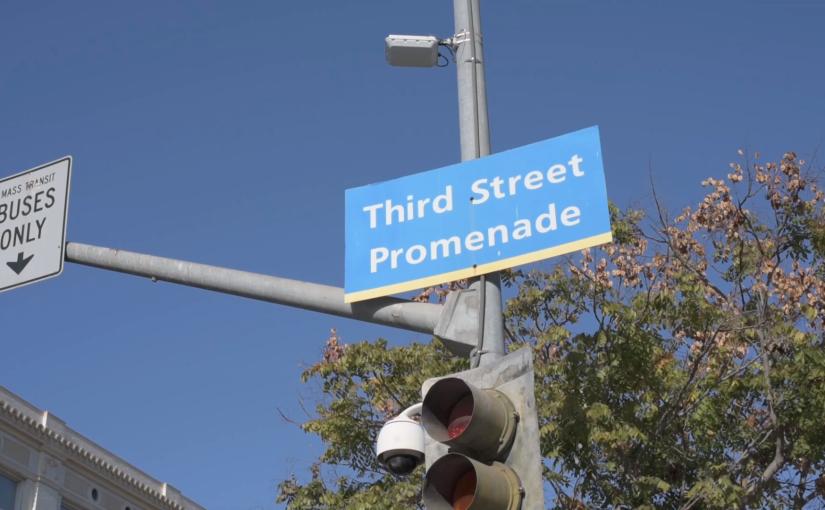 Free Stock Footage – Santa Monica Third Street Promenade Street Sign 01 – RoyaltyFree
