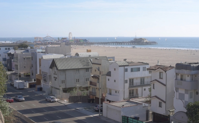 Free Stock Footage – PCH pan up to Santa Monica Pier – 01 – Royalty Free