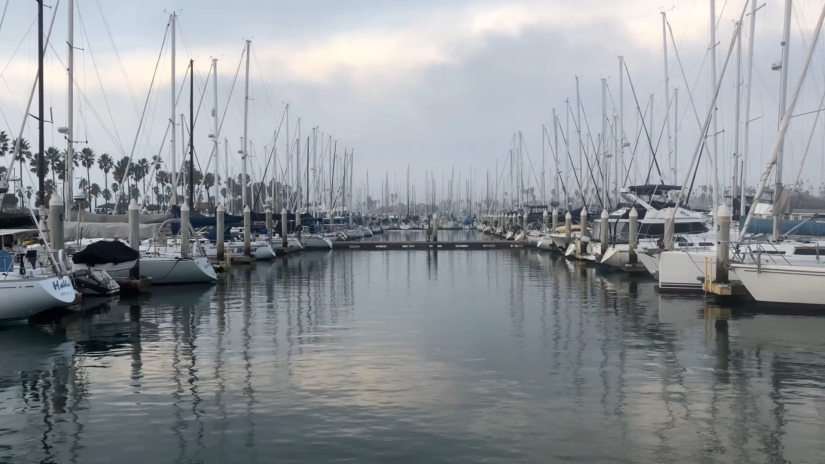 Free Stock Footage – Boats in Ventura Harbor – 60fps – Royalty Free